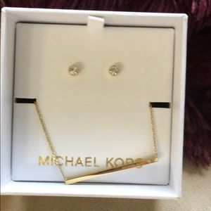 Michael Kors necklace earring set